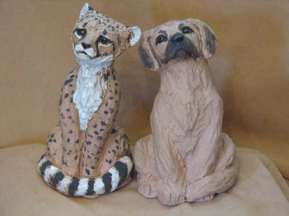 Cheetah Cub with Anotolian Dog