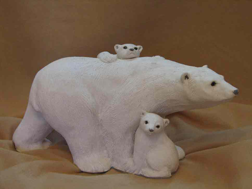 Polar Bear with Babies